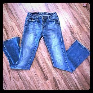"Rock 47 wrangler boot cut low rise jeans 3/4 X 34"""